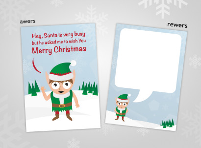 Merry Xmas Elf Card